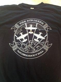 the STRIKERS San Diego Rock N Roll Black T-Shirt