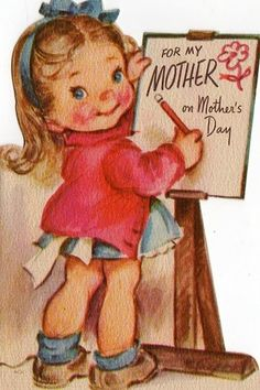 (๑˙❥˙๑)                                                                ✄Vintage Mother's Day Card
