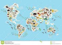 cartoon-animal-world-map-children-kids-animals-all-over-white-continents-islands-blue-background-57564442.jpg (1300×958)
