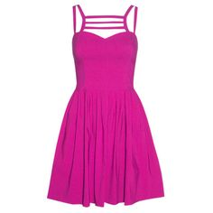 Jenny Pink Dress ($46) ❤ liked on Polyvore featuring dresses, vestido, pink dress and pink day dress