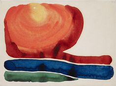 Evening Star No. II. Georgia O'Keeffe (1887 - 1986). 1917 Watercolor on paper. Promised Gift to Crystal Bridges Museum of American Art,