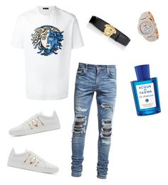 """""""Untitled #592"""" by aintdatjulian on Polyvore featuring Versace, AMIRI, Patek Philippe, Acqua di Parma, men's fashion and menswear"""