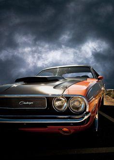 Dodge Challenger. Storm's coming.