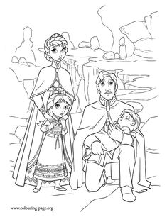 The King And Queen Hope That Trolls Magic Can Help Girls Have Fun Coloring This Free Disney Frozen Movie Sheet