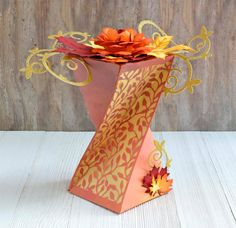 Gift Box made with Autumn Morning goodies from #crafterscompanion