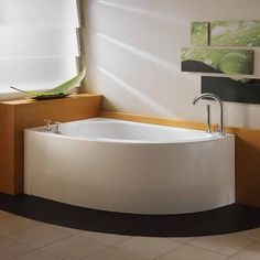 Neptune Wind Customizable Corner Bathroom Tub With Jet Mode: No Jets ( Bathtub Only) And Drain Position: Right Side   Integrated Tiling Flange