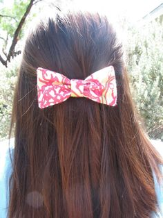 Chi Omega Lilly Pulitzer Fabric Bow  MEDIUM by ASETX on Etsy - Only $9! I NEED IT