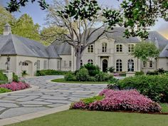 Traditional Exterior of Home with Pathway & Raised beds Traditional Home Exteriors, Traditional House, Traditional Bedroom, Future House, My House, French Style Homes, Dream House Exterior, Foyers, Estate Homes