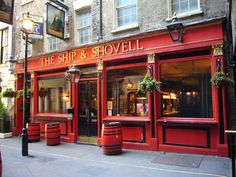 The Ship and Shovel, actually split into two bars either side of the alley which is interesting. Gets busy as close to Embankment but worth a visit as decent pubs are limited in the area  .