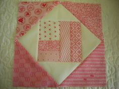 Step 4: Adding Remaining Triangle Pieces--how to make square in a square block