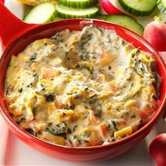 Bacon-Ranch Spinach Dip Recipe -During the hectic holiday season, my slow cooker works overtime. I fill it with a savory bacon dip and watch everyone line up for a helping. Keep the recipe in mind for tailgating, too. —Crystal Schlueter, Northglenn, Colorado
