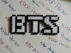 BTS Perler Beads (Disclaimer:I didn't do this)