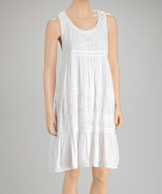 Loving this White Sequin Dress on #zulily! #zulilyfinds--how hard can this be to make?