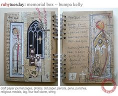 Michelle Ward's journal pages are soothing eye candy
