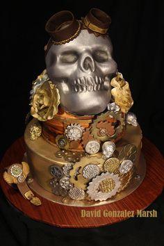 Skull Mechanic Cake