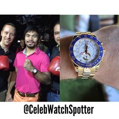 Manny Pacquiao was spotted wearing a Rolex Yacht Master II - ( Rose Gold Rolex, Rose Gold Watches, Rolex Watches For Men, Luxury Watches, Rolex Air King, Buy Rolex, Best Amazon, Best Watch Brands, Vintage Rolex