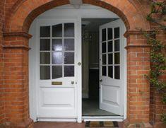 Timber Doors Glazed front doors. White front doors