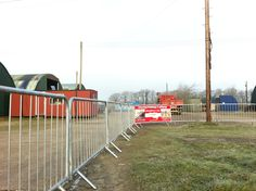 Barriers can be fixed together to form a long line Crowd, Fair Grounds, Fun, Hilarious