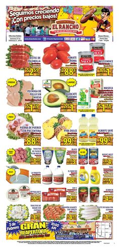 El Rancho Weekly Ad January 27 - February 2, 2016 - http://www.olcatalog.com/grocery/el-rancho-weekly-ad.html