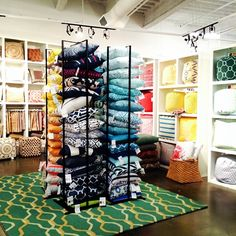 Utilizing the Surya Pillow Tower display in our #LVMkt showroom! Each tower holds up to 20 Surya pillows.