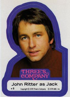 John Ritter as Jack in Three's Company Sticker, 1978 John Ritter, Nostalgia, Abc Tv Shows, Three's Company, Sister Love, Classic Tv, Man Humor, Music Songs, Make You Smile