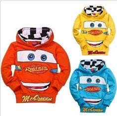 Retail! 1PC 2014 New Arrival Spring /Autumn Child Boys Hoodies Long Sleeve cartoon cars T-shirts children sweatshirt  $7.13