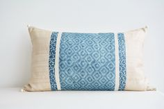 Patchwork Indigo Lumbar Pillow Cover , Blue Geometric Print Lumbar Pillow Cover , Block Print Cushion Covers in Silk , Decorative Pillow by anekdesigns on Etsy https://www.etsy.com/listing/202025544/patchwork-indigo-lumbar-pillow-cover