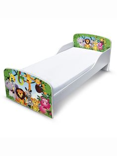 Jungle Toddler Bed With Foam Mattress