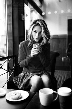 I like my coffee like my women. ...sweet and creamy.....