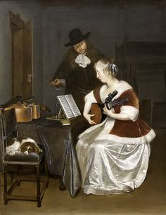 Gerard Terborch: The Music Lesson by unbearable lightness, via Flickr