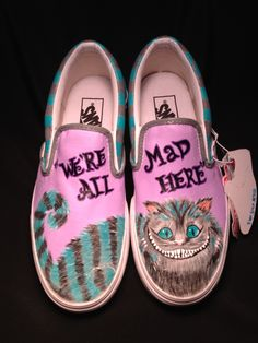 Custom Designed Hand Painted Shoes. $70.00, via Etsy.