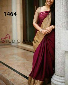 Elegant Fashion Wear Explore the trendy fashion wear by different stores from India Bridal Silk Saree, Saree Wedding, Soft Silk Sarees, Ethnic Sarees, Indian Sarees, Indian Attire, Indian Ethnic Wear, Indian Dresses, Indian Outfits