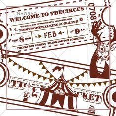 Vintage Admission Ticket Washi Tape Sample, Circus Admit Washi Sampler, Ephemera, Stamps, Masking Ta
