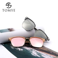 9441285054 TOMYE 55911 2018 New Fashion PC Metal Square Frame Color Polarized  Sunglasses for Women and Men. Lunettes De Soleil Polarisées ...