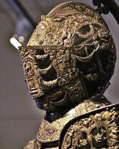 George Steel — Parade armor and horse armor Alessandro Farnese,. Helmet Armor, Arm Armor, Body Armor, Medieval Knight, Medieval Armor, Neck Bones, Horse Armor, Knight Armor, Fantasy Armor