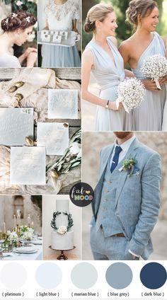 Light Blue Grey Wedding colours | fabmood.com #weddingcolor #weddingtheme #bluegrey #weddinginspiration