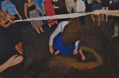 Wedding dance m Oil on canvas w60x40 cm