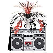 * We Like The BOOM BOX CENTERPIECE*Decoration*80's Party*HIP HOP*