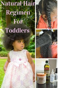Natural Hair Regimen for Toddlers Natural Hair Loc Method Styling Natural Hair Natural Hair for Toddlers Natural Hair Regimen, Natural Hair Tips, Natural Hair Growth, Natural Hair Styles, Kids Natural Hair, Baby Hair Growth, Natural Beauty, Baby Girl Hairstyles, Hair Treatments