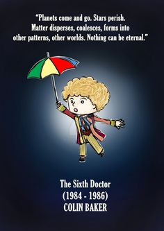 The sixth doctor - doctor who fanart by MoztDangerous