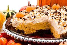 Pumpkin cream pie, anyone? Simply delicious. #pumpkin #vanilla #chocolate #creme #fall #autumn #pietime