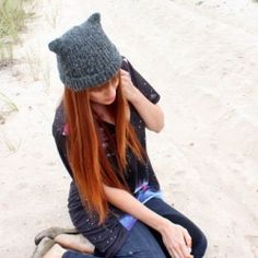 Super-easy pattern shows you how to knit this cat ear hat. If you can knit a scarf you can make this hat!
