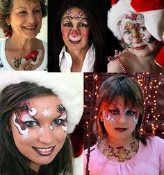Lynne's FACEMAGIC Face Painter Body Artist Melbourne: Christmas Face Painting