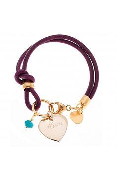 Pulsera personalizable en cuero y plata bañada en oro - DIME QUE ME QUIERES #bracelet #pulsera #trendygarage