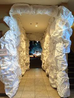 Falls Church VBS Everest Ice Cave. This turned out so much cooler than I even imagined. I have an amazing crew who helped us make this happen!!!