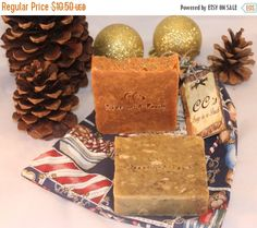 ON SALE Handmade Soap Holiday Pumpkin and by CCsSoapinaPouch