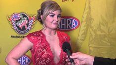 Erica Enders-Stevens interviewed on the red carpet Mello Yello Awards 2014 Pro Stock champ
