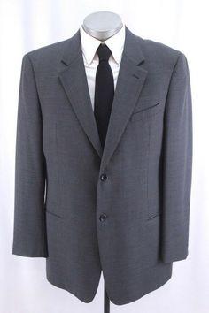 68e3215a47c mens dark gray ARMANI COLLEZIONI blazer jacket sport suit coat two button 46  L  fashion