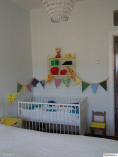 Small space nursery, nursery in master bedroom