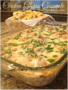 "❤️ CHICKEN GLORIA CASSEROLE ❤️ Absolutely delicious! 5 stars! ""This chicken was delicious and turns out like a showy dish you could serve for company. It smelled so good when cooking and …"